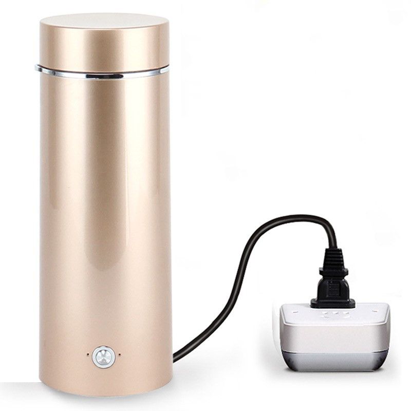 Portable kettle mini mini travel electric kettle, automatic heating cup, household plug-in unit double layer insulated travel portable mini electric hot kettle cup imported temperature control