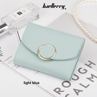 Baellerry Newest Style Ms Short Section Multi Card Position Small Wallets Women S Three Folds Coin