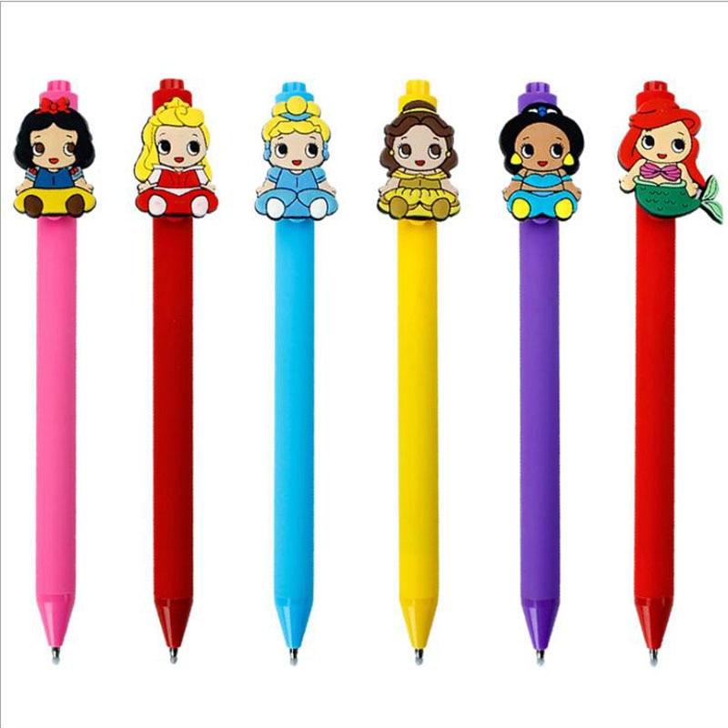 24pcs/lot Sweet Princess Gel Pens Kawaii 0.5mm Black Pen Cartoon Kid Gift  Office School Supplies Papelaria Stationery G022
