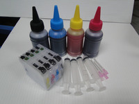 400ml dye ink + Refillable ink cartridge LC123 for Brother MFC-J4410DW MFC-J4510DW MFC-J4610DW MFC-J4710DW