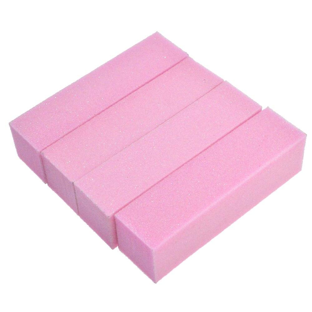 Nagelsalon 4 stks/partij Roze Nail Art Buffer Schuren Blokken, DIY ...