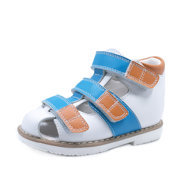 151c1aae0c3 Classic style closed toe boys action leather sandals baby girl shoes arch  support sandals children solid