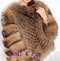 Luxury New Winter Genuine Raccoon Fur Coat Women's Natural Real Fur Coats For Women Jacket Female Overcoat