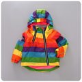 2016 Autumn New Pattern Korean Children Dress Boy  Girl Baby Stripe Even Hat Loose Coat Jacket Charge Clothes Windbreaker