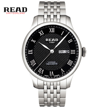 READ Men's Leather Watch Business Quartz Watch Sapphire Mirror Waterproof Mens Watches Fine steel dial R6029