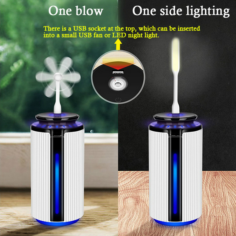 New 900ML Air Humidifier Ultrasonic USB Diffuser Aroma Essential Oil 7 Color LED Night light Cool Mist Purifier Humidificador in Humidifiers from Home Appliances