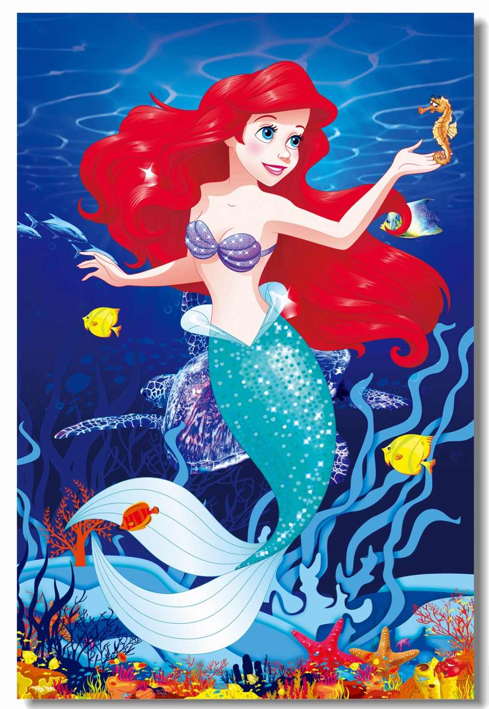Custom Printing Canvas Mural The Little Mermaid Poster Princess