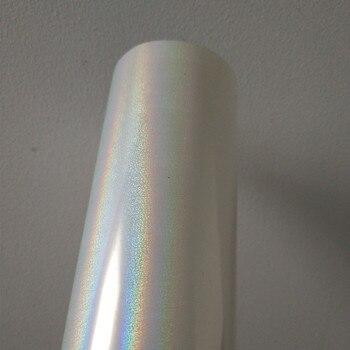 Feuille holographique motif de sable mouvant transparent Y25 feuille de marquage à chaud presse chaude sur cartes en papier ou film de marquage à chaud en plastique