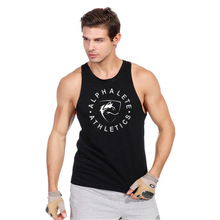 GYMS Cotton Tank Top Mens Bodybuilding Stringer Vest Fitness Singlet Sleeveless Crossfit Shirt Muscle Workout Clothes