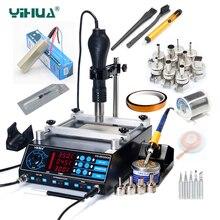 YIHUA 853AAA Bga паяльная станция горячий воздух для поверхностного монтажа пистолет паяльники подогрев станции функции 3 в 1 BGA паяльная станция