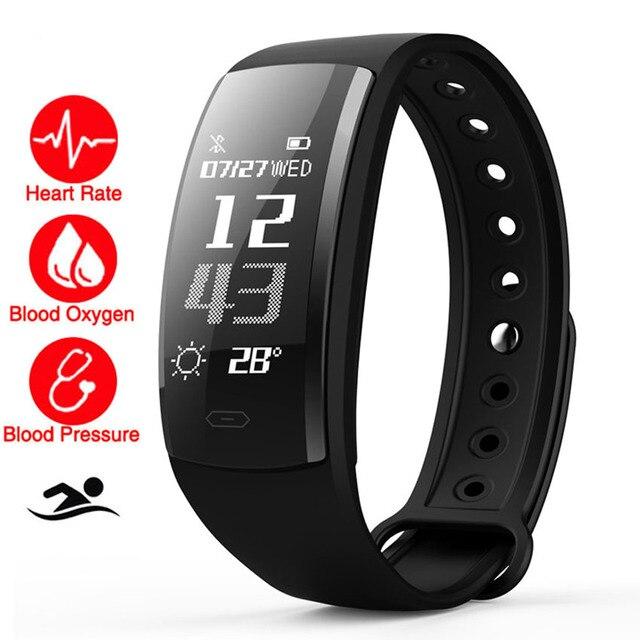 cb8b300abfd Nadar Relógio Inteligente da Frequência Cardíaca monitor de Pressão  Arterial O2 Monitor Cardiaco Conectar