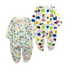 pakaian bayi yang baru lahir Lengan penuh bayi infantis bayi pakaian romper kartun pakaian ropa bebe 3 6 9 12 M pakaian budak lelaki