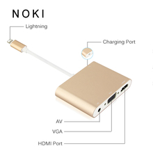 HDTV Cabo Adaptador Para Lightning para HDMI VGA AV de Áudio Vedio Cabo adaptador Para o iphone x 8 7 6 plus Para iPad Air/mini/pro