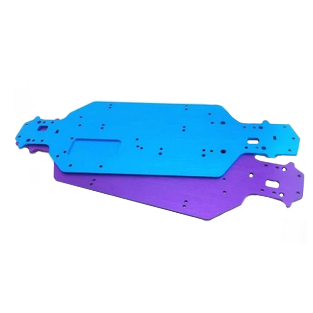 03001 Aluminum Chassis For HSP RC 1/10 Drift Car Model 94123 Upgrade Spare