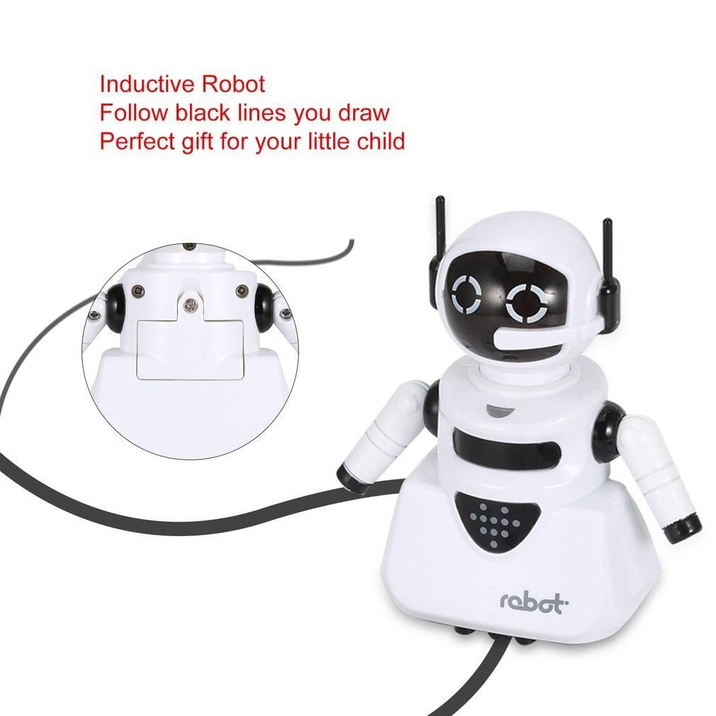Inteligencia Mágica Pista Inductivo Modelo De Robot Siguientes Por Línea Dibujar Mini Vehículo Desarrollo De La Inteligencia De Juguetes De Los Niños Aliviar El Calor Y La Sed.