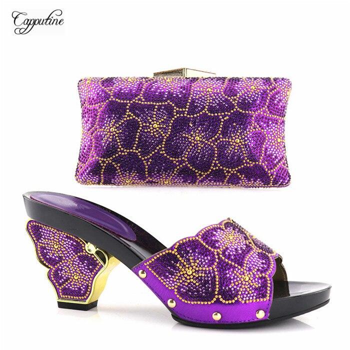 Avec À Lady Sac Yh2018 Main 11 Pompes 9 Et bleu Italien Design Cm Noir Du Mode rouge or Set Hauteur 8 Chaussures Pour Noir Mis pourpre En Talon Belle qwtZIqETWa