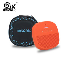 IKSNAIL Wireless Bluethooth Speaker Cover Case For Bose SoundLink Micro Speaker-Fits For Plug&Cables Pouch Box Storage Strap Bag(China)