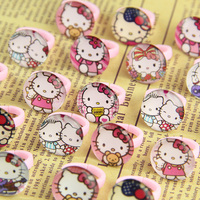 100pcs lovely animation cartoon Children/Kids Cartoon heart shaped Hello Kitty KT Cat Acrylic Lucite Resin Rings Free Shipping