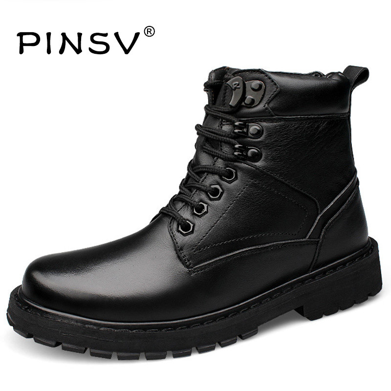 Big Size 50 Winter Military Boots Men Shoes Ankle Tactical Genuine Leather Boots Men Winter Shoes Luxury Brand Black Fur Men Boo warmest genuine leather snow boots size 37 50 brand russian style men winter shoes 8815