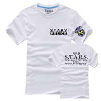 Hot Resident Evil Series S T A R S Summer Personality Men S T Shirt Short