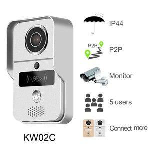 Image 4 - KONX Thông Minh 720P Wifi Nhà Chuông Cửa Điện Thoại Liên Lạc Nội Bộ Chuông Cửa Không Dây Mở Khóa Nhìn Trộm Màu Camera Chuông Cửa Người Xem 220 IOS Android