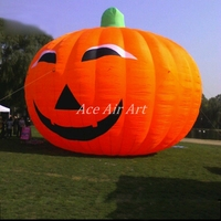 Giant outdoor Halloween advertising item orange inflatables pumpkin event and show decorations