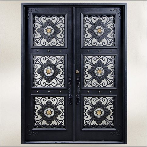 Buy custom design forged wrought iron for Door design of iron