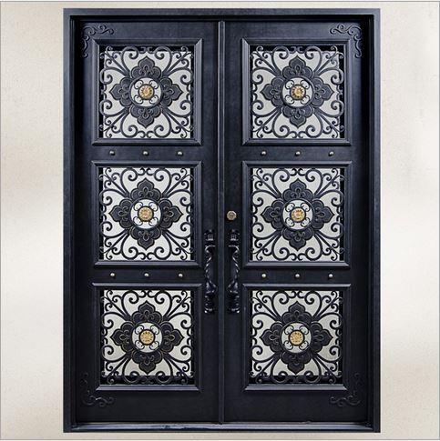 Custom Design Forged Wrought Iron Front Doors Iron Doors Iron Entry Doors  H Wid9
