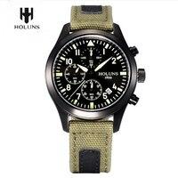 Men Watches Top Brand HOLUNS Pilot Army Military Tactical Quartz Wrist Watch Waterproof Luminous Wristwatch Male Sport Relogio|relogio brand|relogio relogios|relogio waterproof -