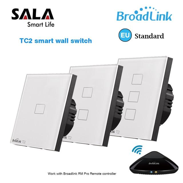 Original Broadlink TC2 EU Standard RF Touch Panel Switch 123 Gang RM PRO Smart Home Universal Wireless WiFi RF Remote Control