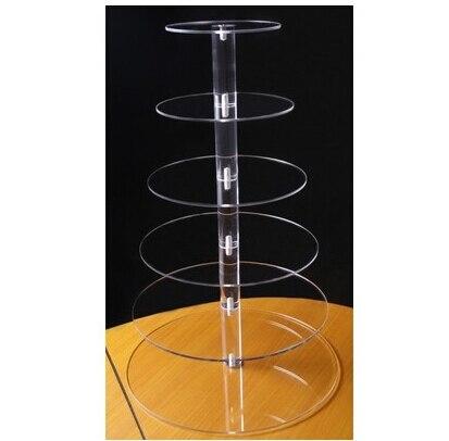 6 уровня круглый макет красивый акрил кекс стенд вечерние/свадьба/Фестиваль Поставки