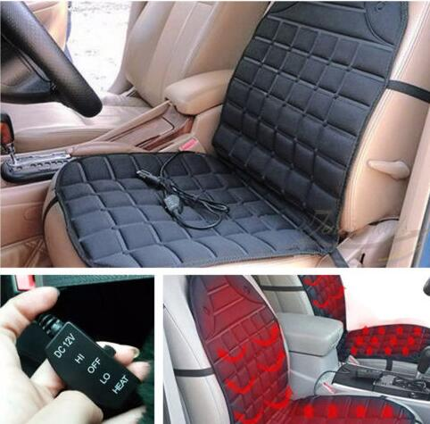2x New Thickening Heated Car Seat Heater Cushion Warmer Cover Pad with cigarette lighter universal for any car styling 12v 12v electric car heated seat cushion cover auto heating heater warmer pad winter car seat cover supplies hight quality