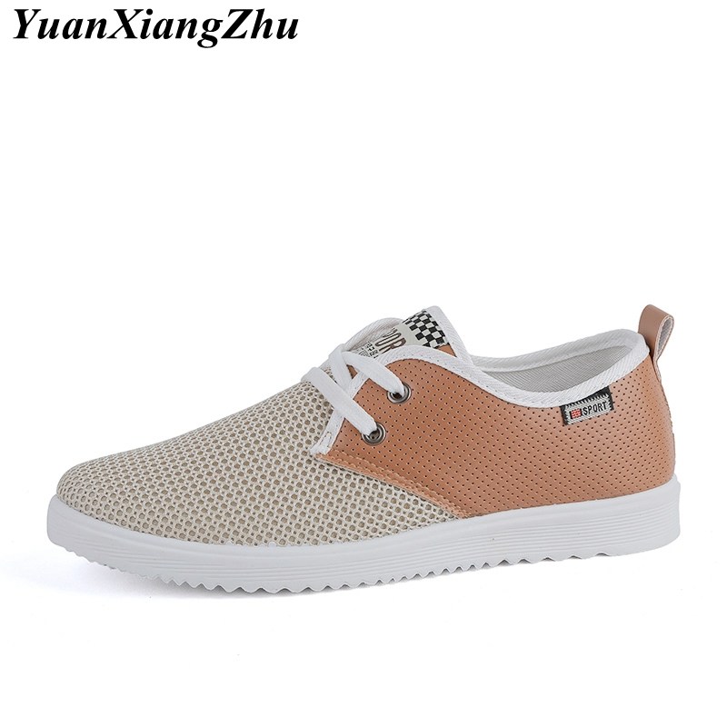 Summer Breathable Men Shoes 2018 Fashion New Air Mesh Men Casual Shoes Comfortable Lace-up Brand Hollow Flats Walking Male Shoes mvp boy brand men shoes new arrivals fashion lightweight letter pattern men casual shoes comfortable lace up casual shoes men page 5 page 1 page 3 page 3
