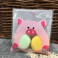 10 см * 10 см 50 Шт. Розовый Питание Свинья Cookie Самоклеящиеся Пластиковые Мешки Упаковки Печенья Запеченные Пищевой Упаковки