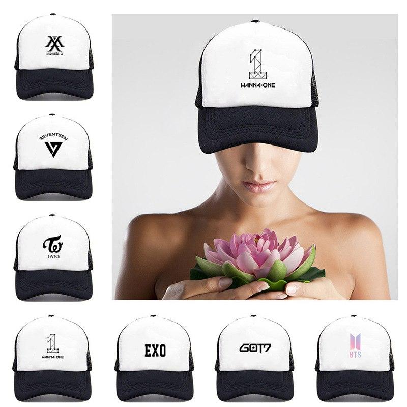 Apparel Accessories Mens Snapback Hats Bts Monsta Twice Exo Print Fashion Cap Hats Adjustable Baseball Cap Bulletproof Young Age Group Hat