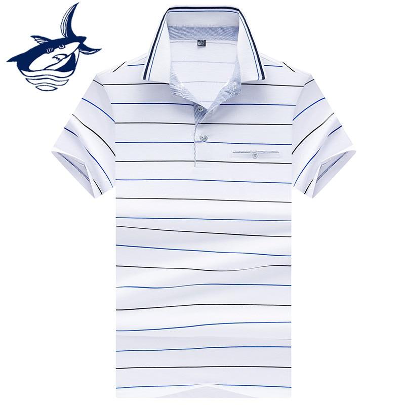 Business & Casual Striped   Polo   Shirt Men Clothes 2018 Brand Tace & Shark   polos   para hombre Summer Cotton Slim Fit   Polos   Men