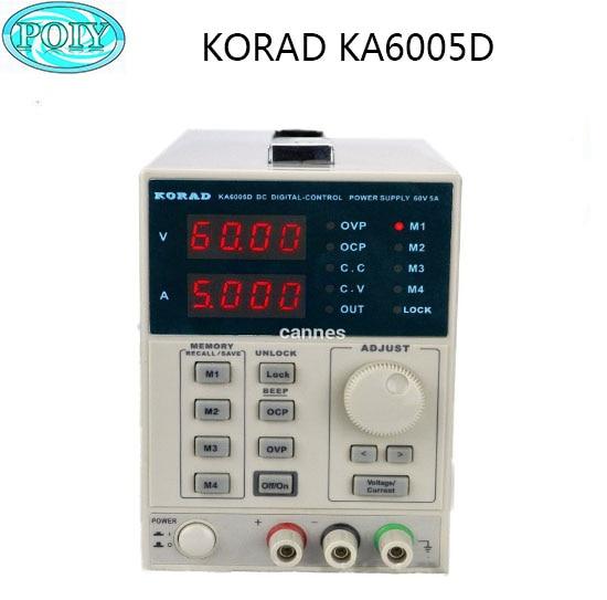 KORAD KA6005D Precision Variable Adjustable 60V 5A DC Linear Power Supply Digital Regulated Lab Grade