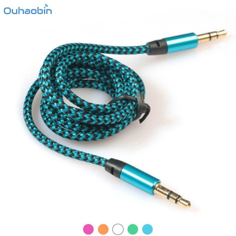 Ouhaobin Популярные 1 шт. 3.5 мм стерео вспомогательный аудио кабель мужчинами для смартфонов Многоцветный модные Класс кабели Set6