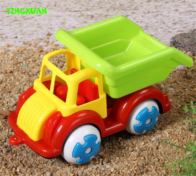 Happyxuan miúdos bonitos dos desenhos animados inércia dumper caminhão de areia brinquedo de plástico 27*16*15 centímetros de água e areia play diversão ao ar livre para crianças presente