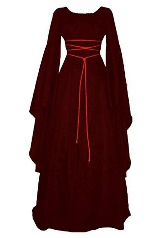 コスプレ黒 6 色ビクトリア魔女女性ハロウィーン吸血鬼のゴースト黒女王ファンシードレス衣装 S-2XL