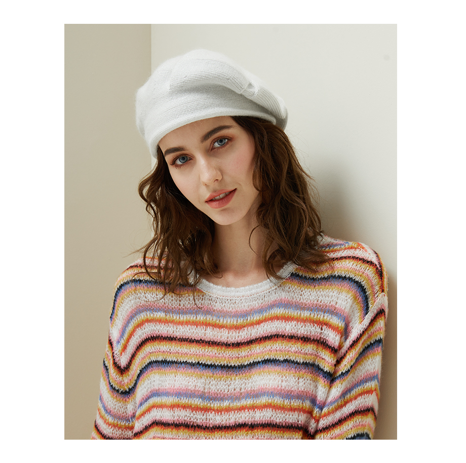 Women Knitted Beret Winter Warm Hat Female 2018 New Brand British Style Lady Painter Bonnet Hats Solid Color Beanies Wholesale (6)