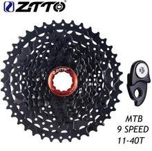 ZTTO Bicycle Freewheel 9 Speed 11-40T MTB Mountain Bike Cassette 9S 27S 40T Bicycle Freewheel Sprockets For M370 M430 M4000 запчасть shimano alivio m4000 ун тяга верхн хомут для 9ск уг 66 69 для 40t
