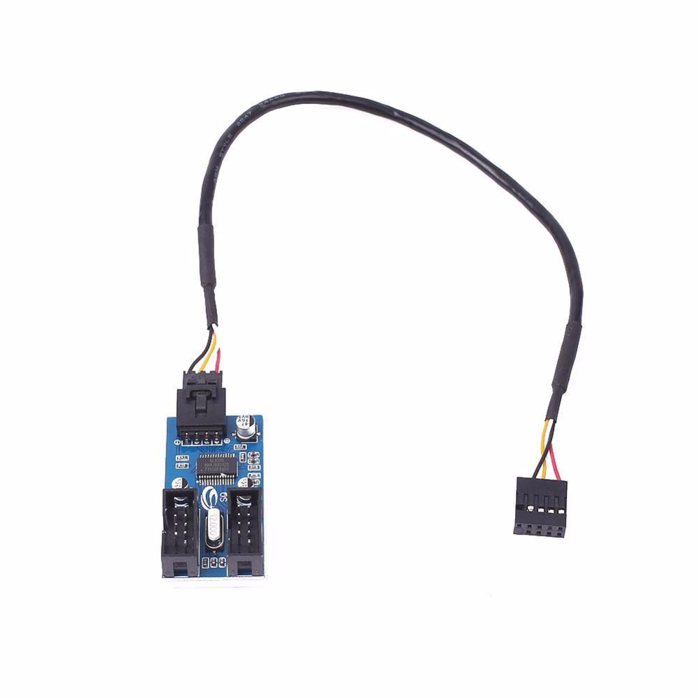 cewaal motherboard usb 9pin header multiplier splitter 1