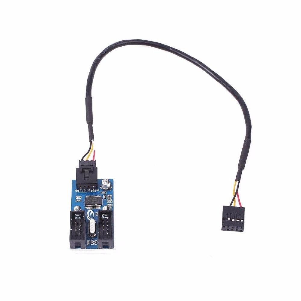 Cewaal Motherboard USB 9Pin Header Multiplier Splitter 1