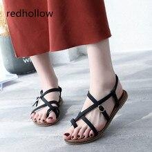 Women Flip Flops Summer Beach Sandals Flat Casual Shoes Ladies Gladiator Sandals Open Toe Ankle Strap Rome Style Sandalias Women
