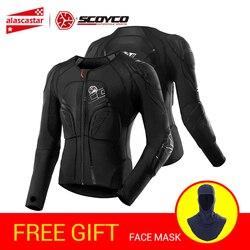 SCOYCO мотоциклетная куртка защита для мотокросса Защитное снаряжение Мото куртка мотоциклетная Броня нательная защита для гонок черный мото...