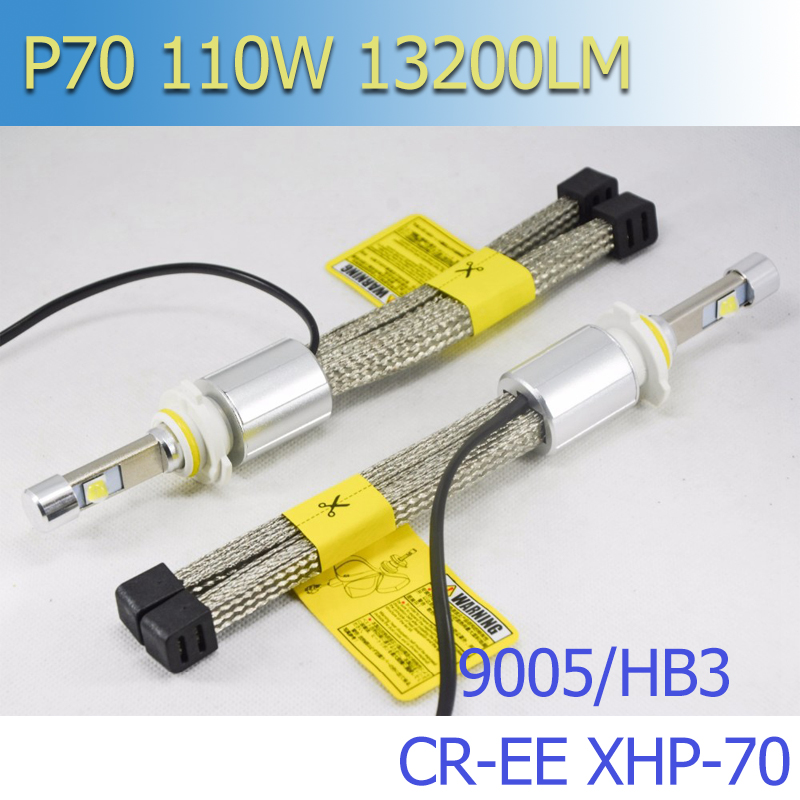 2018 The Most Powerful All In One CR-EE XHP-70 5000K 6000K 55W 6600Lm H4 H7 H11 9005 9006 9012 Autos LED Headlights With Fanless