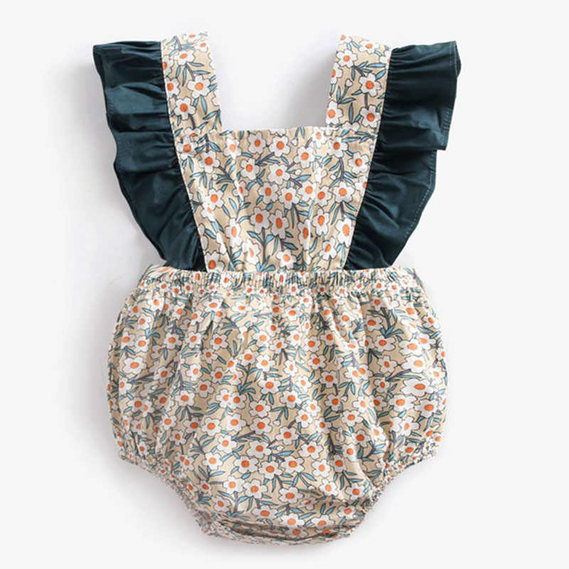 Baby Rompers New 2019 Summer Climbing Dress Flower Strap Girl Pants Baby Girl Clothes Funny Baby Rompers Jumpsuit