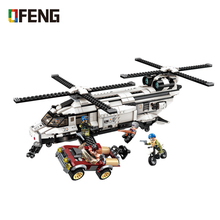цена на Military Fighter War building blocks Helicopter Car Vehicle Weapon figure bricks Compatible With toys children gift