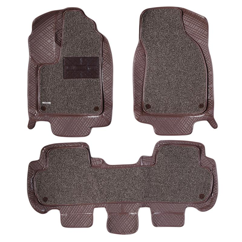 Heavy Duty Car Floor Mat Vehicle Carpet Protection Pad Cushion for Toyota Highlander 2016 (Champagne Brown)